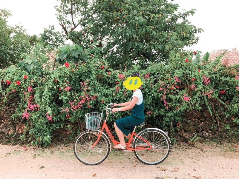 竹富島でサイクリング