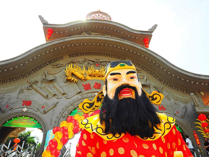 スイティエン公園の関羽先生