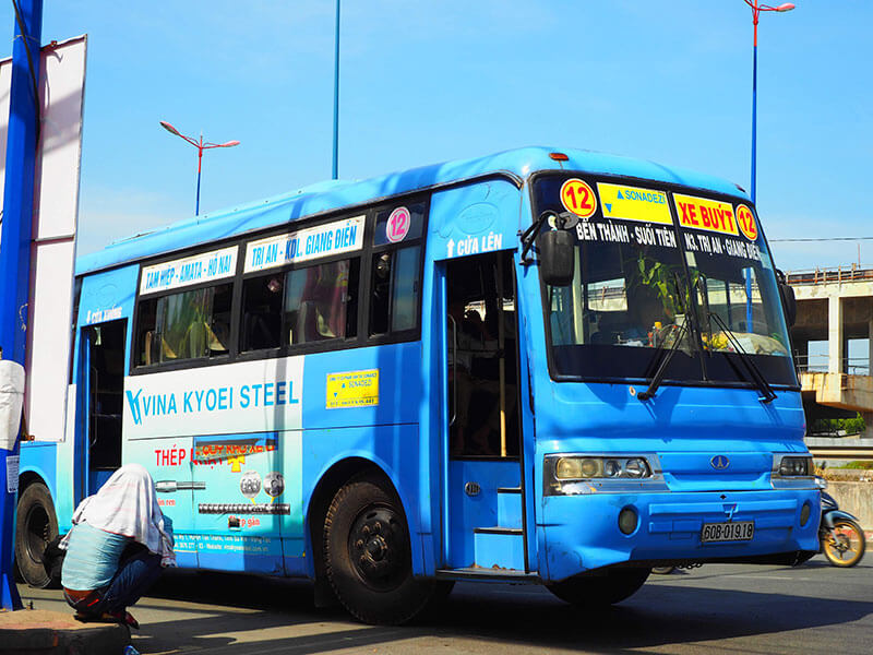 ベンタイン市場からスイティエン公園に行くバス