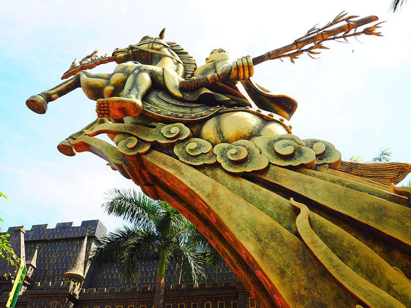スイティエン公園の聖なるジョン像