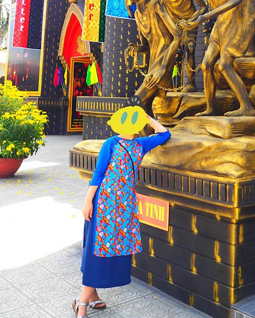 ベトナムで購入した既製品アオザイ