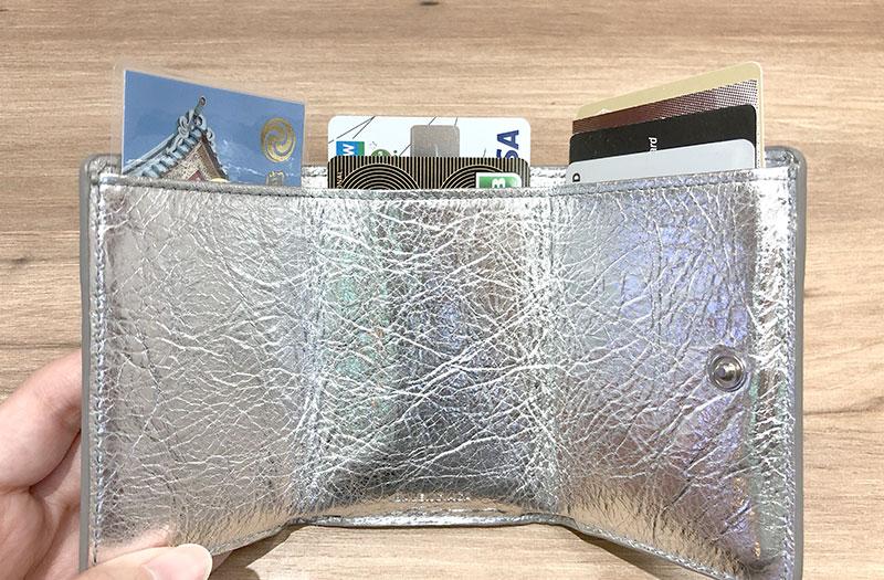 バレンシアガ ミニ財布のカード収納力2