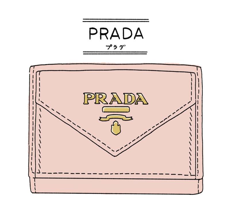 PRADAのミニ財布