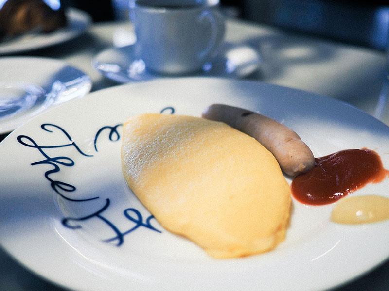 ホテルサイクルの朝食、オムレツ