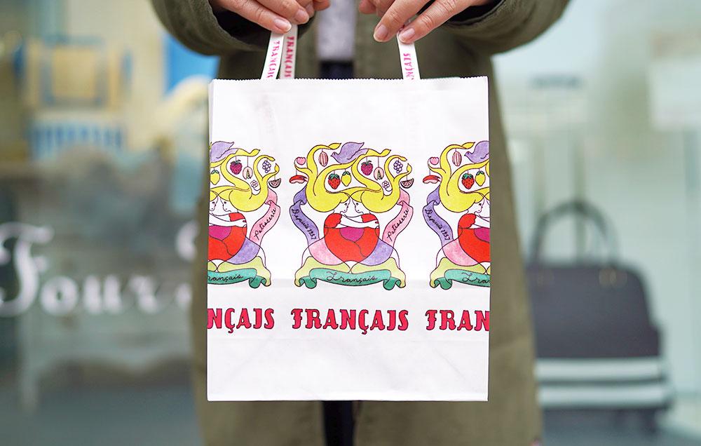 フランセの紙袋が可愛い